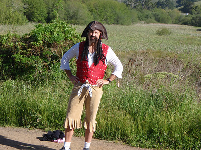 Must be pirate's cove?  Is one of us lost?  This fellow was also at Pan Toll and Bolinas.  Arrrrg.